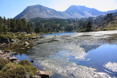Lake of Camporells in Pyrenees orientales Royalty Free Stock Photo