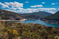 Lake camporredondo in Palencia, Castilla y León, Spain. Lake camporredondo in Palencia, Castilla y León, Spain stock photo