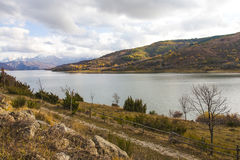 Lake Campotosto in Abruzzo in Italy Stock Photography