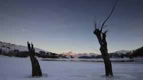 Lake Campotosto in Abruzzo in Italy stock footage
