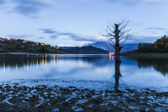 Lake Campotosto in Italy Stock Photography