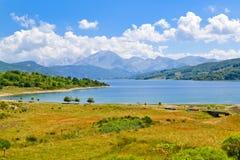 Lake Campotosto in summer Royalty Free Stock Photos