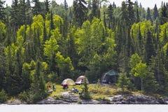 Lake campsite Stock Image
