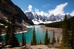 Lake in Canada. Moraine lake in the Canada Stock Images