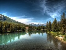 A lake in Canada. On a bright summers day Stock Photography
