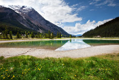 Lake in Canada. Moraine lake in Canada Royalty Free Stock Image