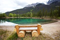 Lake in the Canada. Moraine lake in Canada Royalty Free Stock Photography