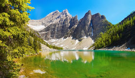 Lake Canadian Rockies Landscape Stock Image