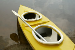 Lake canoe. Just personel recreation Royalty Free Stock Image