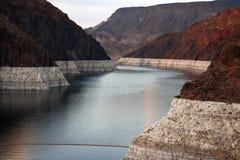 Lake in canyon at Hoover Dam, Nevada, USA Royalty Free Stock Image