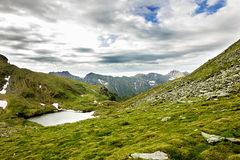 Lake Capra from Fagaras mountains Royalty Free Stock Photos