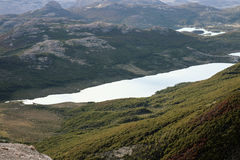 Lake Capri seen from the trail to Fitz Roy overlook Stock Photography
