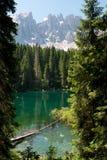 Lake Carezza Stock Images