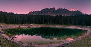 Lake of Carezza Stock Photography