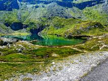 Lake. Between  the Carpathian mountains  Romania sightseeing Royalty Free Stock Images