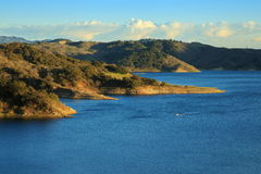Lake Casitas. Overview of Lake Casitas late afternoon, Ventura California Stock Photo