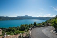 Lake. Castel gandolfo lake in the same name town near rome italy Royalty Free Stock Images
