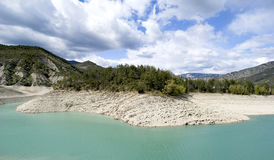 The lake of Castillon, France royalty free stock photos