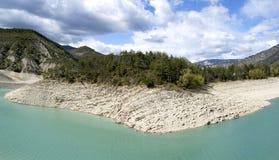 The lake of Castillon, France royalty free stock photo