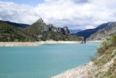 The lake of Castillon, France stock photography