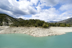 The lake of Castillon, France royalty free stock photography