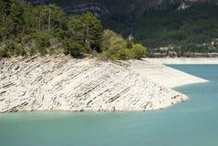 The lake of Castillon, France royalty free stock image