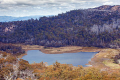 Lake Catani viewed from the Monolith Lookout, Mt. Buffalo Stock Photography