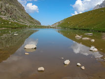 Lake of in the Caucasus Stock Images