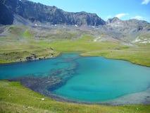 Lake in the Caucasus, Karachay-Cherkessia. Russia Royalty Free Stock Photo