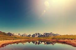 Lake in Caucasus Stock Images