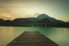 Lake of Cavazzo( Friuli) Royalty Free Stock Photos