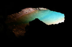 Lake in a cave Royalty Free Stock Images