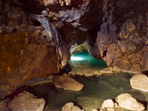Lake in cave Stock Image