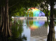 The colorful amphitheater in Orlando Royalty Free Stock Photos
