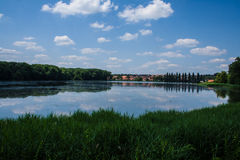 Lake in the central europe Stock Photography