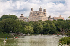 The Lake Central Park and The Beresford New York Stock Photography