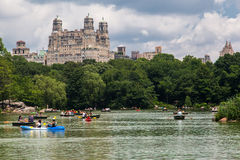The Lake Central Park and The Beresford New York Stock Image