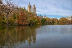 Lake in Central Park Stock Image