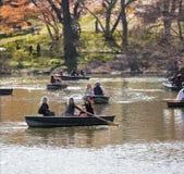 Lake of Central Park, Manhattan. Royalty Free Stock Photos