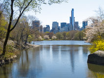 Lake in Central Park, Manhattan Royalty Free Stock Photo