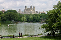 The Lake of Central Park New York City Stock Photography