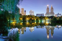 The Lake in Central Park New York City Royalty Free Stock Photo