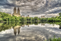 The lake Central Park, New York City Stock Photos