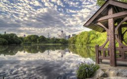 The lake Central Park, New York City Royalty Free Stock Images