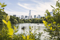 The Lake in Central Park - New York City Stock Image