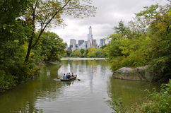 The Lake in Central Park Stock Photo