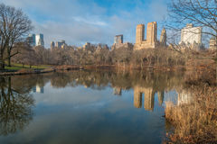 The Lake, Central Park, NYC stock photos