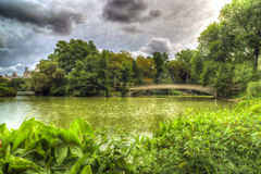 At the lake in Central Park Royalty Free Stock Image