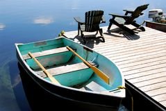 Lake chairs Royalty Free Stock Photography