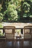 Lake chairs Royalty Free Stock Photo